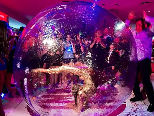 Live Contortionist Performer in Bubble