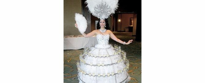 Hire Champagne Girl for NYC Wedding Entertainment