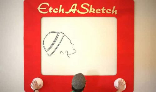 Giant Etch A Sketch Rental is a Fun Party Activity Idea