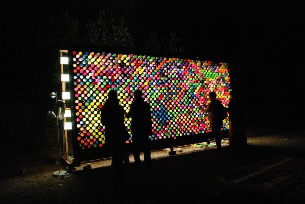 Picture of our Giant Lite Brite with over 2500 pegs lit up.