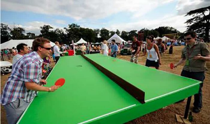 Giant 8 person ping pong table