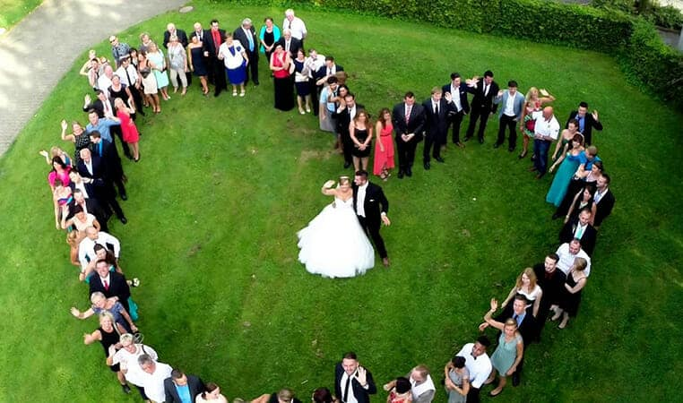 Wedding picture from Drone