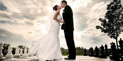Newly married couple picture for Top 5 Wedding Planning Tips blog