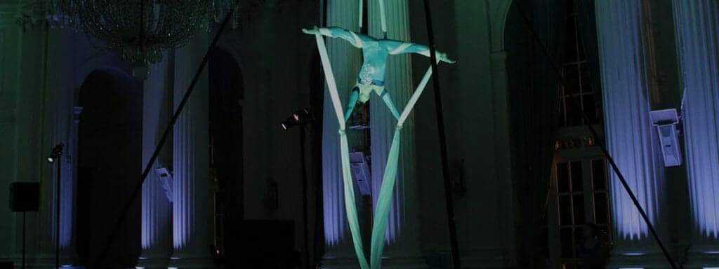 Aerialist at Manhattan Event planned by CoCo Events
