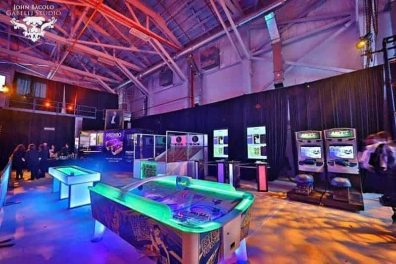 Example of Game Room set up and created by CoCo Events for amazing party fun