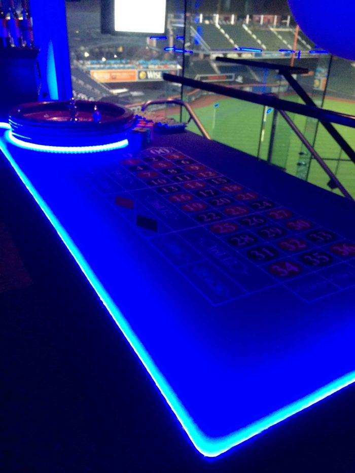 Rent this LED Roulette Table for your next Casino Party