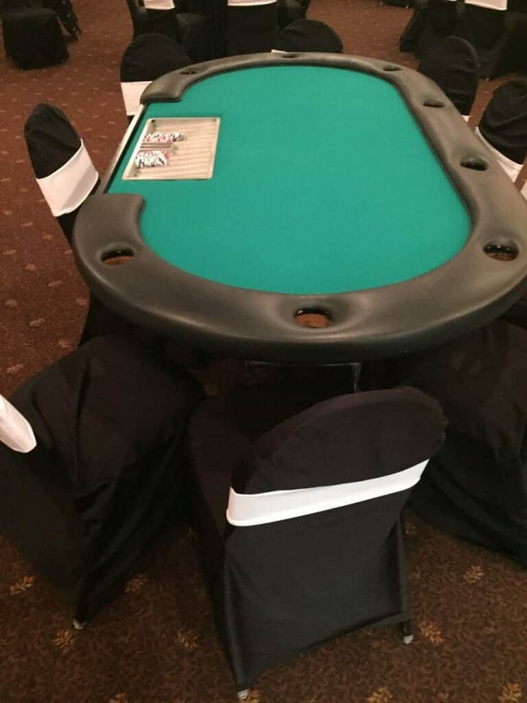 Casino Poker Party Table Rentals For Texas Hold'em & other poker games