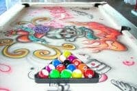 Grafitti Pool Table example to rent at your next event