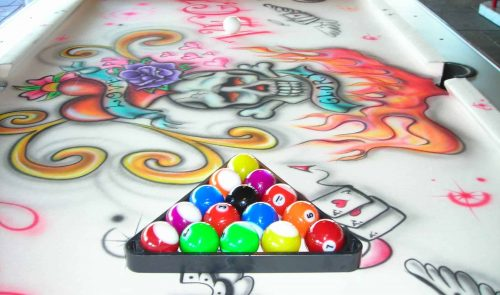 Rent Graffiti Style Pool Table For Events
