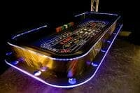 example of Craps Table with LED Lighting for casino parties