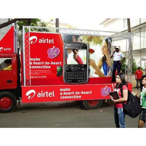 Road Show Marketing Truck set up by CoCo Events for airtel