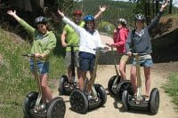 picture of group on segway's at team building activity put on by CoCo Events