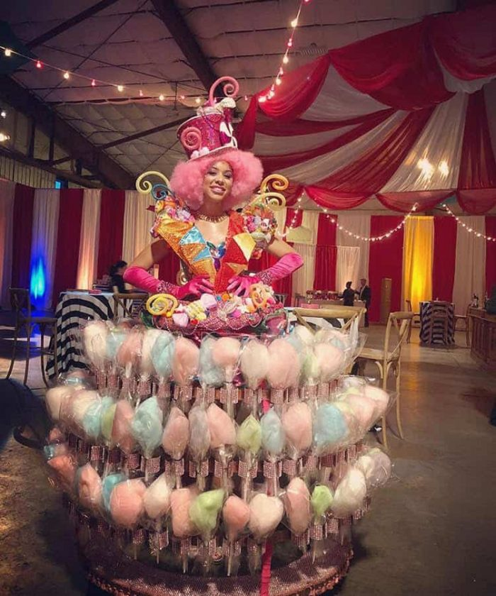 picture Cotton Candy Strolling Tables Entertainer