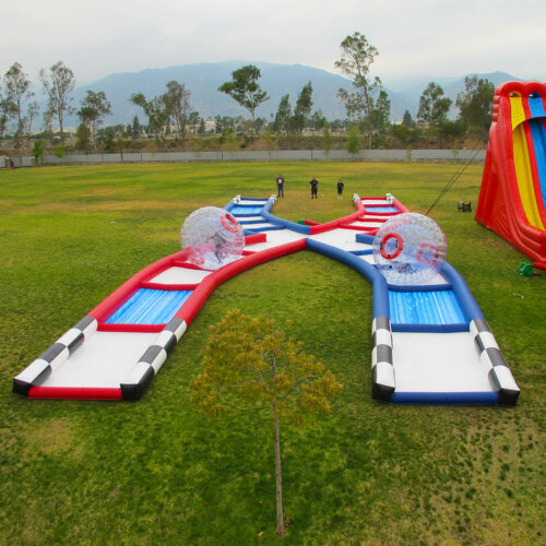Zorb track inflatable obstacle course